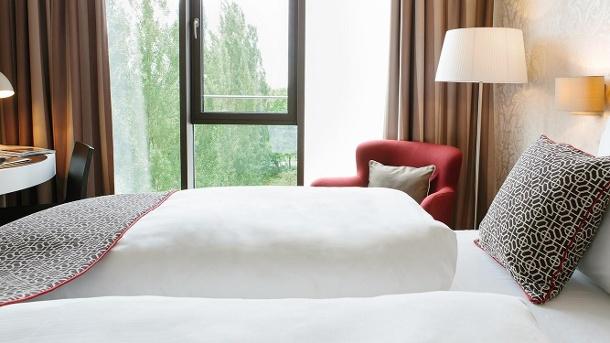 Hotel Chester Heidelberg: Gemütliches Doppelzimmer nur 300 Meter vom Neckar entfernt. (Quelle: Hotel Chester Heidelberg)