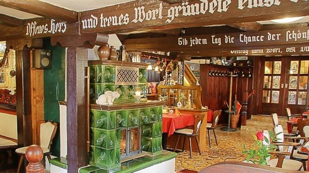 Traditionell und gemütlich: Genießen Sie im Restaurant des Hotels kulinarische Spezialitäten aus dem Harz. (Quelle: Hotel Zum Bürgergarten)