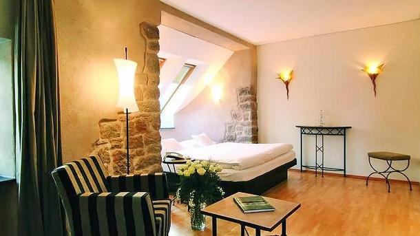 Hotel Angel's: Charmantes Doppelzimmer in der Altstadt von Sankt Wendel. (Quelle: Angel's das Hotel am Fruchtmarkt)